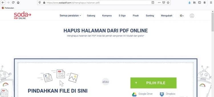 Hapus PDF Menggunakan SodaPDF 1