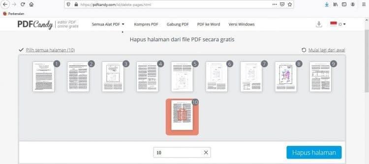 Menghapus PDF dengan PDFCandy 2