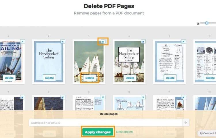 Menghapus dengan Free PDF Convert 2