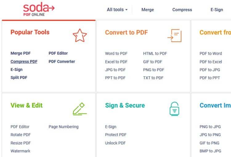 Soda PDF Compres Pdf