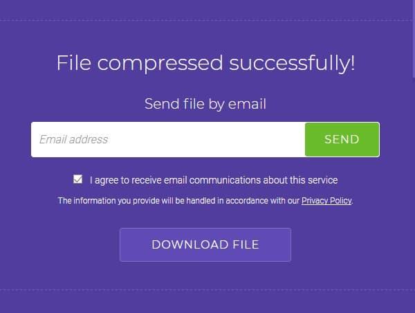 Soda PDF Proses Kompres Selesai