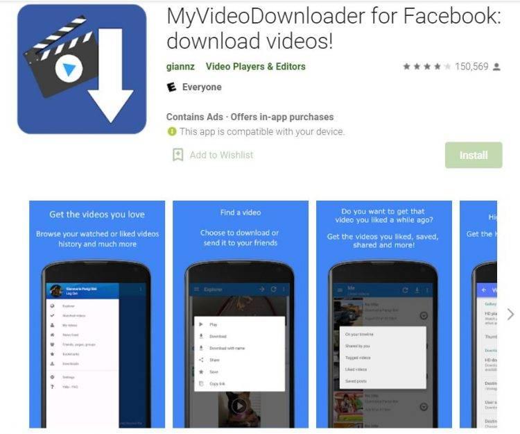 MyVideoDownloader for Facebook