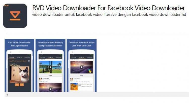 RVD Video Downloader For Facebook