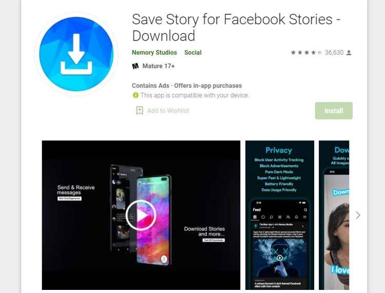 Save Story for FB Stories Download