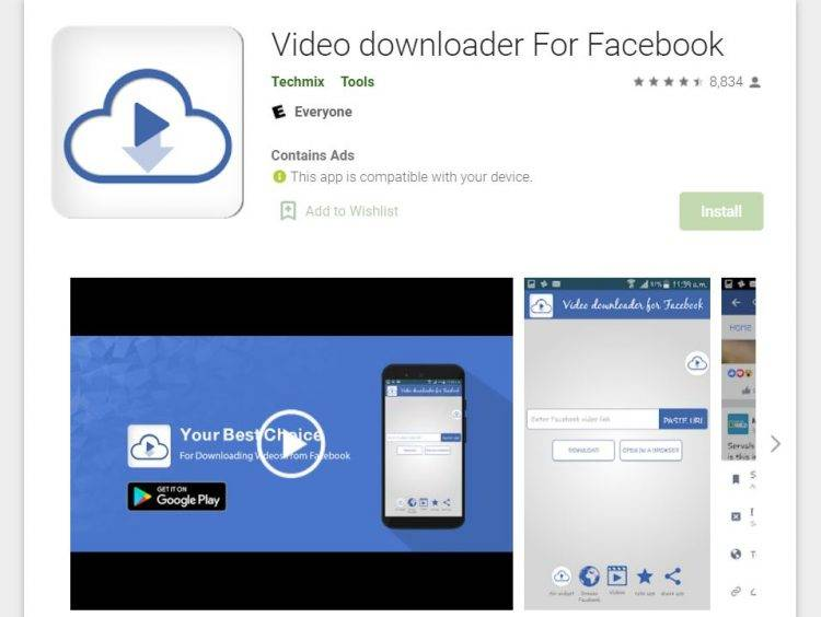 Video Downloader For Facebook by Techmix