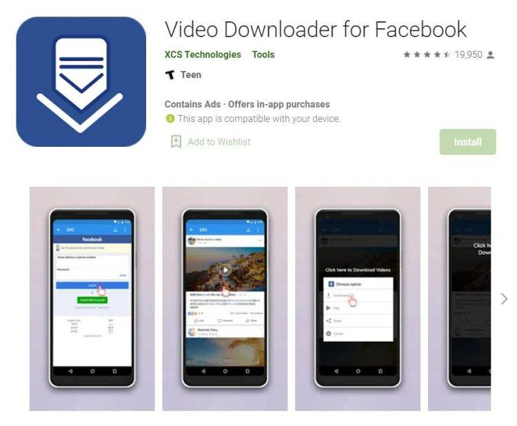 Video Downloader Facebook