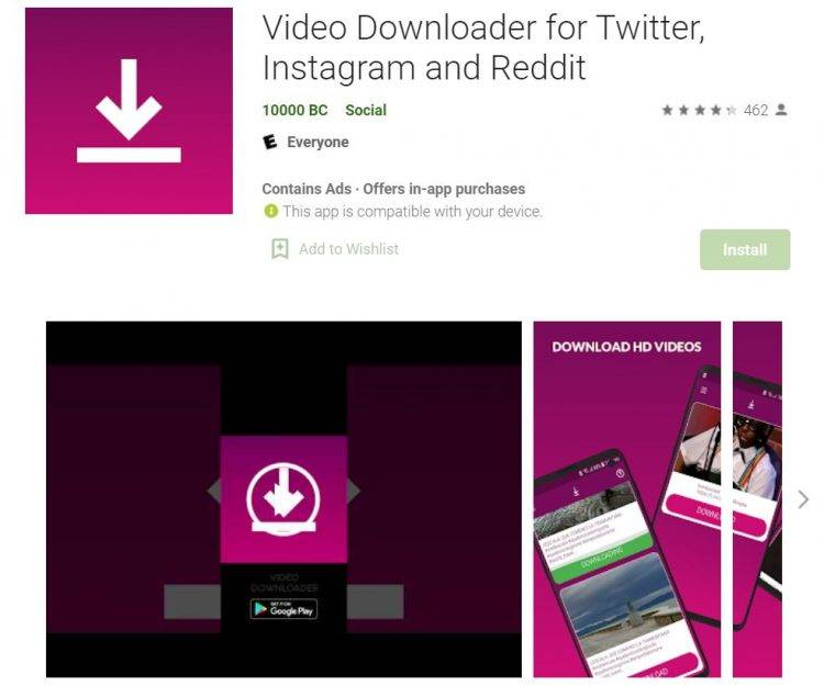 Video Downloader for Twitter by 10000 BC