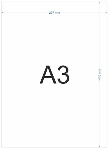 Ukuran Kertas A3 dalam Berbagai Satuan