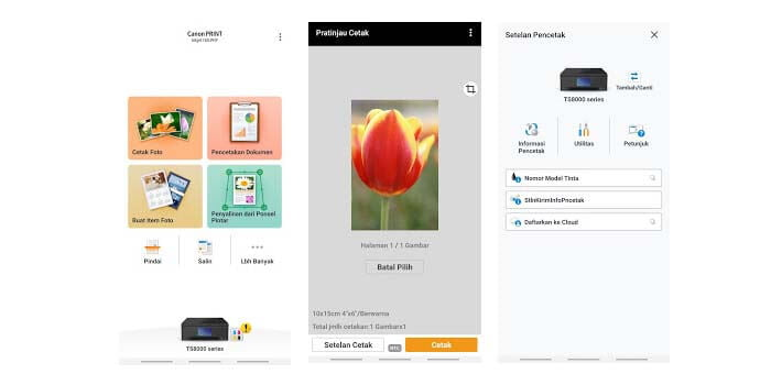 Cara Print dari HP Canon PRINT Inkjet:SELPHY