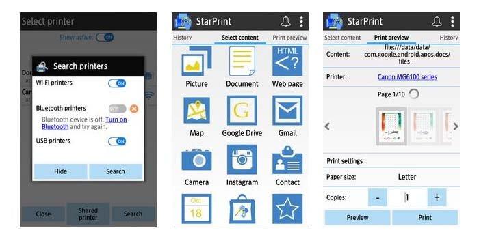 Cara Print dari HP StarPrint