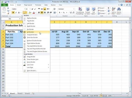 Cara Membuat Tabel Excel dengan Border