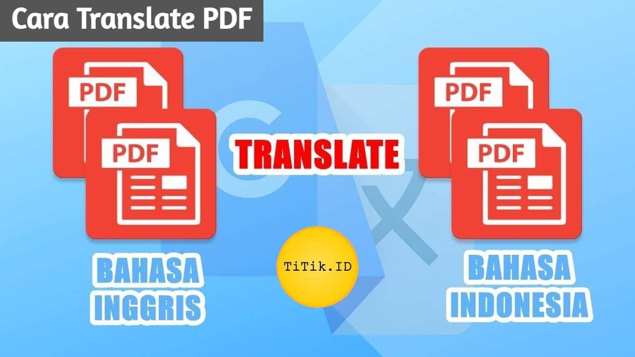 Cara Translate PDF
