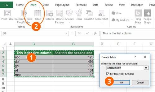 Langkah Membuat Tabel di Semua Versi Excel