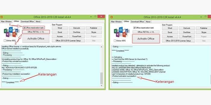 Aktivasi Office 2013 dengan KMS Office