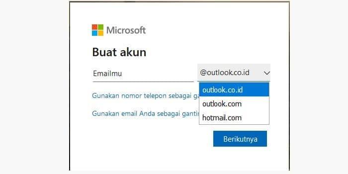 Cara Membuat Akun dari Email Microsoft Outlook atau Hotmail
