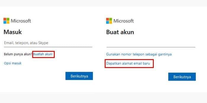 Cara Membuat Akun dari Email Microsoft