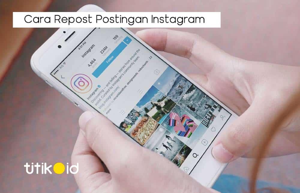 Cara Repost Instagram